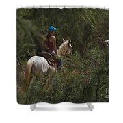 Horseback Riding Kauai Trail Shower Curtain
