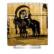 Horseguards Inspection. Shower Curtain