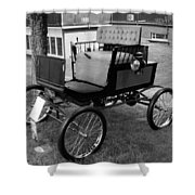 Horseless Carriage-bw Shower Curtain