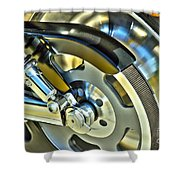 Horsepower Transfer  Shower Curtain