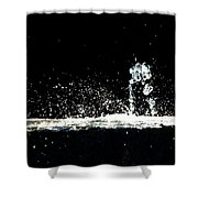 Horses And Men In Rain Shower Curtain