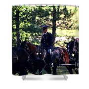 Horses At Arlington Cemetery Shower Curtain