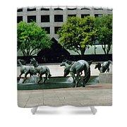 Horses At William Square  Shower Curtain