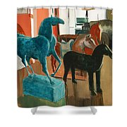 Horses Four Shower Curtain