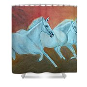Horses Gone Wild Shower Curtain