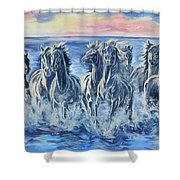 Horses Of The Sea Shower Curtain