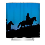 Horses On The Mountain Shower Curtain