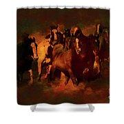 Horses Paintings 34b Shower Curtain