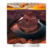 Horseshoe Bend, Colorado River, Page, Arizona  Shower Curtain by Bryan Mullennix