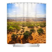 Horseshoe Bend Desert Shower Curtain