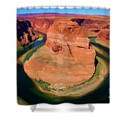 Horseshoe Bend Filters Paint  Shower Curtain