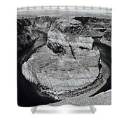 Horseshoe Bend In Black And White Shower Curtain