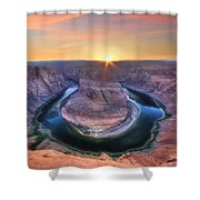 Horseshoe Bend Sunset Shower Curtain
