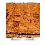 Horseshoe Canyon Great Gallery Group 3 Pictographs Shower Curtain