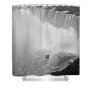 Horseshoe Falls Black And White Shower Curtain