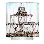 Horseshoe Reef Lighthouse 3 Shower Curtain