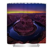 Horseshoe Sunset Shower Curtain