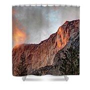 Horsetail Falls Cloudy Sunset Shower Curtain