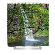 Horsetail Falls, Oregon Shower Curtain