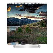 Horsetooth Reservior At Sunset Shower Curtain