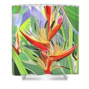 Hort Park Heliconia Shower Curtain