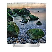 Horton Point Ny At Sunset Shower Curtain