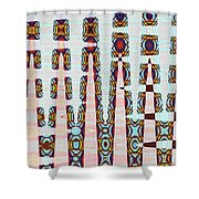 Hosiptal Construction Abstract #2 Shower Curtain