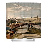 Hospital And Cemetery At Scutari, C.1854 Shower Curtain