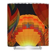 Hot Aie Balloons Shower Curtain