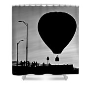 Hot Air Balloon Bridge Crossing Shower Curtain