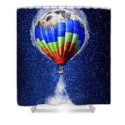 Hot Air Balloon / Digital Art Shower Curtain