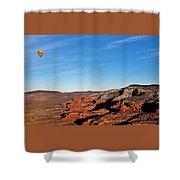 Hot Air Balloon Flight 011914iii Shower Curtain