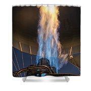 Hot Air Balloon Gas Burner Shower Curtain