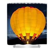 Hot Air Balloon Glow Shower Curtain
