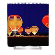 Hot Air Balloon Night Glow Shower Curtain