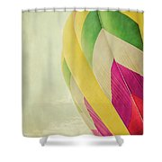 Hot Air Balloon With Pastel Sky Shower Curtain