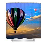 Hot Air Balloons At Sunset Shower Curtain