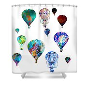Hot Air Balloons Shower Curtain by Michael Colgate
