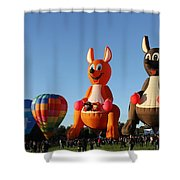 Hot Air Kangaroos Shower Curtain