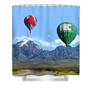 Hot Air Over The Organ Mountains Shower Curtain
