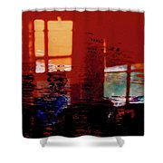 Hot And Cool Shower Curtain