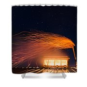 Hot At Night Shower Curtain