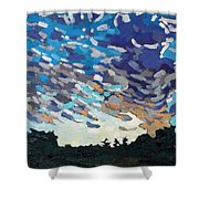 Hot August Sunrise Shower Curtain