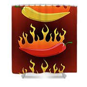 Hot Chilies Shower Curtain