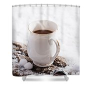 Hot Chocolate Drink Shower Curtain
