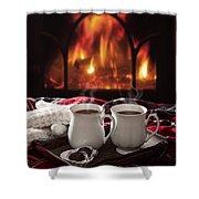 Hot Chocolate Drinks Shower Curtain