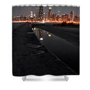 Chicago Hot City At Night Shower Curtain