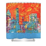Hot Day In The City Shower Curtain