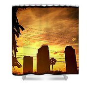 Hot Day On The Strip Shower Curtain