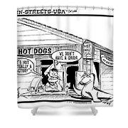 Hot Dog Factory Shower Curtain